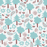 Seamless pattern with forest Stock Images