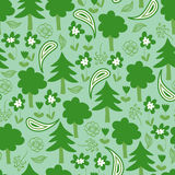 Seamless pattern with forest Stock Photos