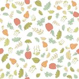 Seamless pattern with forest theme Stock Images