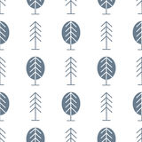 Seamless Pattern with Forest Stock Photography