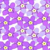 Seamless pattern  of forget-me-alpine a wild flower  vector illu Royalty Free Stock Photos