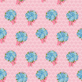 Seamless pattern with forget-me-not. Royalty Free Stock Images