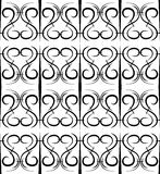 Seamless pattern in the form of forged lattice Royalty Free Stock Photography