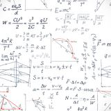 Seamless pattern of the formulas on the physics Royalty Free Stock Images