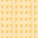 Seamless pattern with fortune cookies on the beige background royalty free stock photography