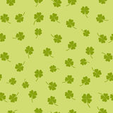 Seamless pattern with four-leaf clover. Editable seamless pattern with four-leaf clover Stock Image
