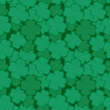 Seamless pattern with four-leaf clover Stock Photography