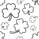 Seamless pattern with four and tree leaf clovers for Saint Patrick`s Day. Vector illustration vector illustration
