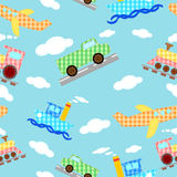 Seamless Pattern Four Types Of Transport - Vector Royalty Free Stock Image