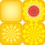 Seamless pattern of four yellow tiles Stock Images