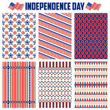 Seamless Pattern for Fourth of July background for Happy Independence Day of America. Illustration of Seamless Pattern for Fourth of July background for Happy Stock Photo