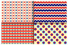 Seamless Pattern for Fourth of July background for Happy Independence Day of America. Illustration of Seamless Pattern for Fourth of July background for Happy Stock Photos