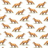 Seamless pattern of a fox. Royalty Free Stock Photos