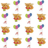 Seamless pattern with foxes Royalty Free Stock Photography