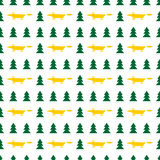 Seamless pattern of foxes in the forest. Abstract background. Seamless pattern of foxes in the forest. Vector illustration. Good quality. Good design Stock Photography