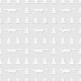 Seamless pattern of foxes in the forest. Abstract background. Seamless pattern of foxes in the forest. Vector illustration. Good quality. Good design Royalty Free Stock Image