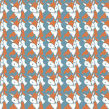 Seamless pattern with foxes Stock Photo
