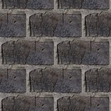 Seamless pattern of wooden bricks wall. Seamless pattern with fragment of wooden bricks wall for design or matte painting royalty free stock image