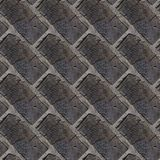 Seamless pattern of wooden bricks wall. Seamless pattern with fragment of wooden bricks wall for design or matte painting stock images