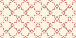 Seamless pattern from frame of abstract poppies and buds of poppies of a fancy shape on a cream background.  Wallpaper. royalty free illustration