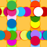 Seamless pattern frame made of color circles Royalty Free Stock Photo