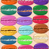 Seamless pattern of French macaroons Stock Image