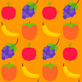Seamless pattern with fresh fruits Stock Photography