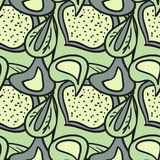 Seamless pattern of fresh leaves Royalty Free Stock Photos