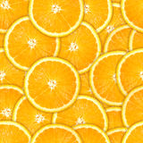 Seamless pattern of fresh orange slice Stock Photography