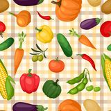 Seamless pattern with fresh ripe stylized Stock Images