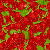 Seamless pattern with fresh strawberries. Royalty Free Stock Photo
