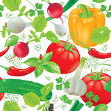Seamless pattern fresh vegetables Stock Images