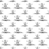 Seamless pattern with frog and  butterfly Stock Photography