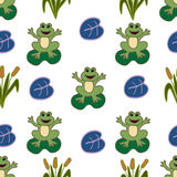 Seamless pattern with frog. Stock Image
