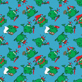 Seamless pattern with frog royal Royalty Free Stock Images