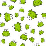 Seamless pattern of frogs in cartoon style royalty free illustration