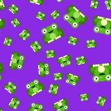 Seamless pattern of frogs vector illustration