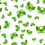 Seamless pattern of frogs royalty free illustration