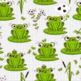 Seamless pattern - frogs Royalty Free Stock Images