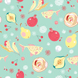 Seamless pattern of fruit Stock Photo