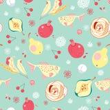 Seamless pattern of fruit royalty free illustration