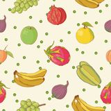 Seamless pattern with fruit Royalty Free Stock Images
