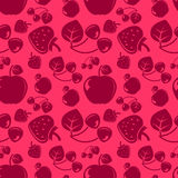 Seamless pattern with fruit Royalty Free Stock Photography