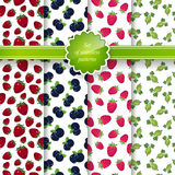 Seamless Pattern with Fruit Background Stock Photo