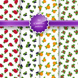 Seamless Pattern with Fruit Background Royalty Free Stock Images
