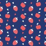 Seamless pattern of fruit background Stock Image