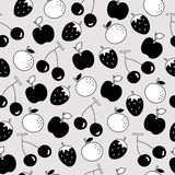 Seamless pattern of fruit background Stock Images