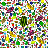 Seamless pattern with fruit and berry Stock Images