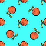Seamless pattern of fruit. Stock Photo