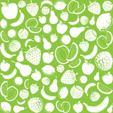 Seamless pattern with fruit Stock Photos